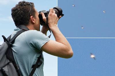 Un fotografo cattura le immagini di una flotta di 14 UFO sopra Madrid