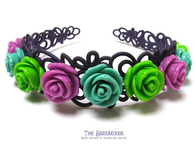 Haarbanden met rozen