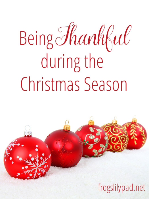 4 Tips to Being Thankful During the Christmas Season.