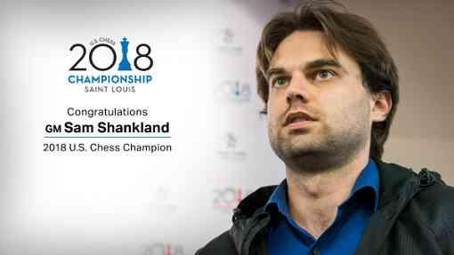 Le grand-maître Samuel Shankland est le nouveau champion d'échecs des USA 2018 - Photo © US Chess Championship