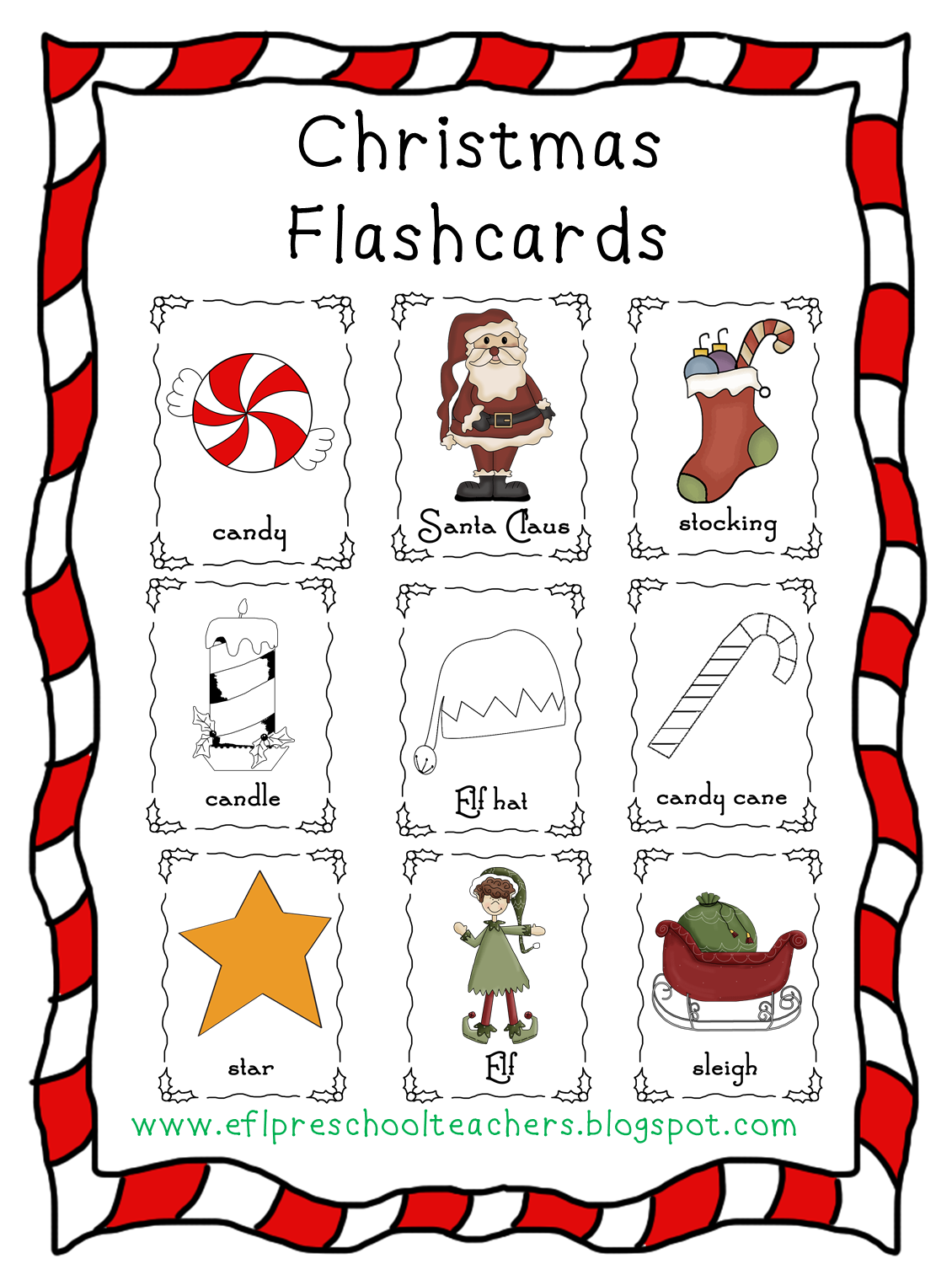 Esl Efl Preschool Teachers Christmas