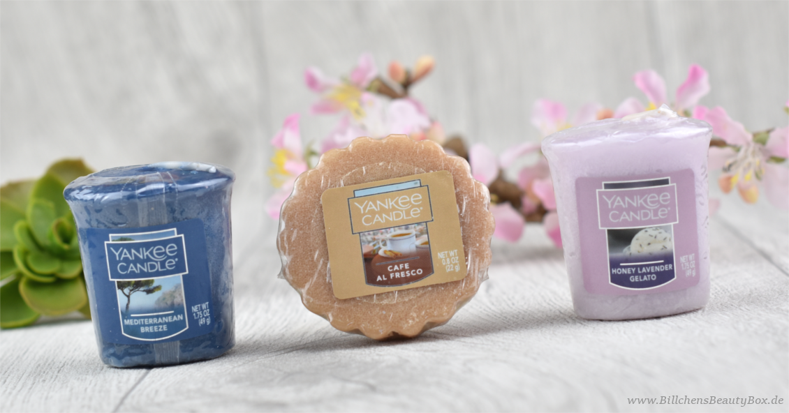 Yankee Candle - Honey Lavender Gelato - Mediterranean Breeze - Cafe al Fresco - Duftbeschreibung