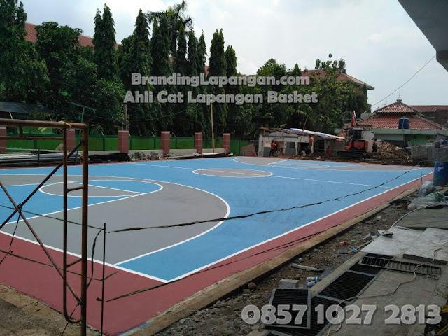 Desain Lapangan Basket, Cat Lapangan Basket