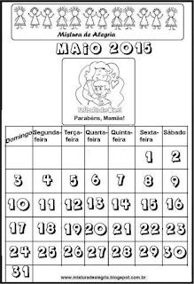 Calendário maio 2015