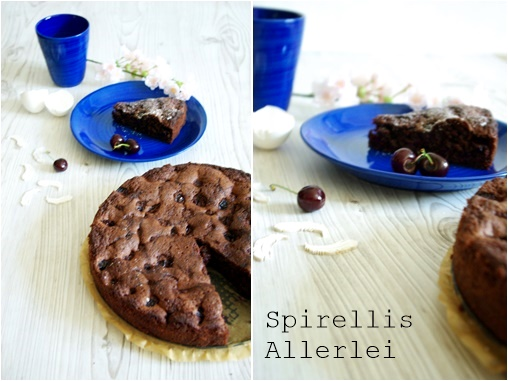 Spirellis Allerlei - saftiger Kuchen mit Schokolade und Kirschen