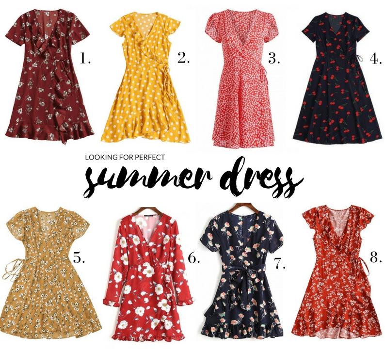 kopertowe sukienki na lato wrpa dress zaful