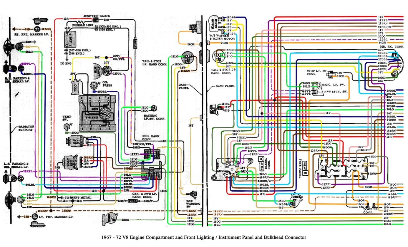 Free Auto Wiring Diagram 1967 1972 Chevrolet Truck V8 Engine