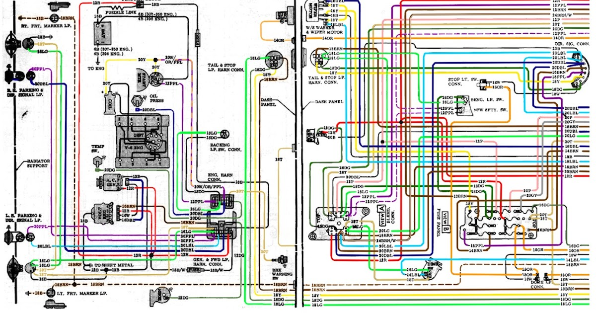 1969 mustang instrument panel wiring diagram subwoofer 5 ohm free auto diagram: 1967-1972 chevrolet truck v8 engine compartment