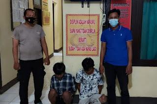Malingggg!!!, Dua Warga Desa Bumijaya di Tangkap Polisi