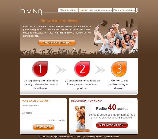 Hiving, gana dinero completando encuestas