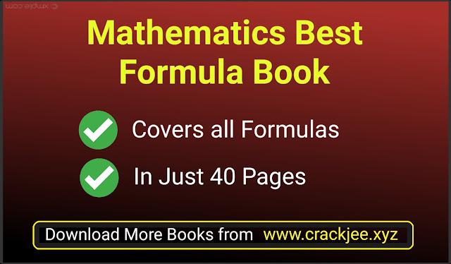 Best Mathematics Formulas Book for IIT JEE