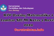 RPP Daring Matematika 1 Lembar SD/MI Kelas 4 Revisi 2020