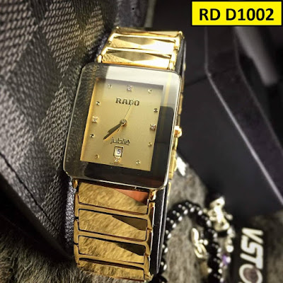 Đồng hồ Rado dây đá ceramic vàng RD D1002