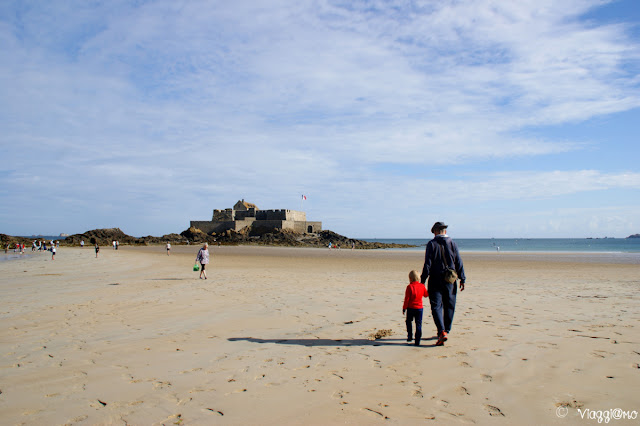 Spiaggia dell'Eventail e Fort National di Saint Malo