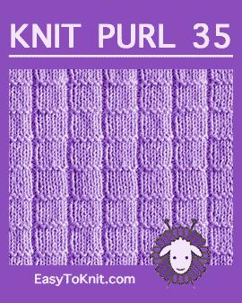#Knit Ladder stitch, Easy Knit Purl Pattern #easytoknit