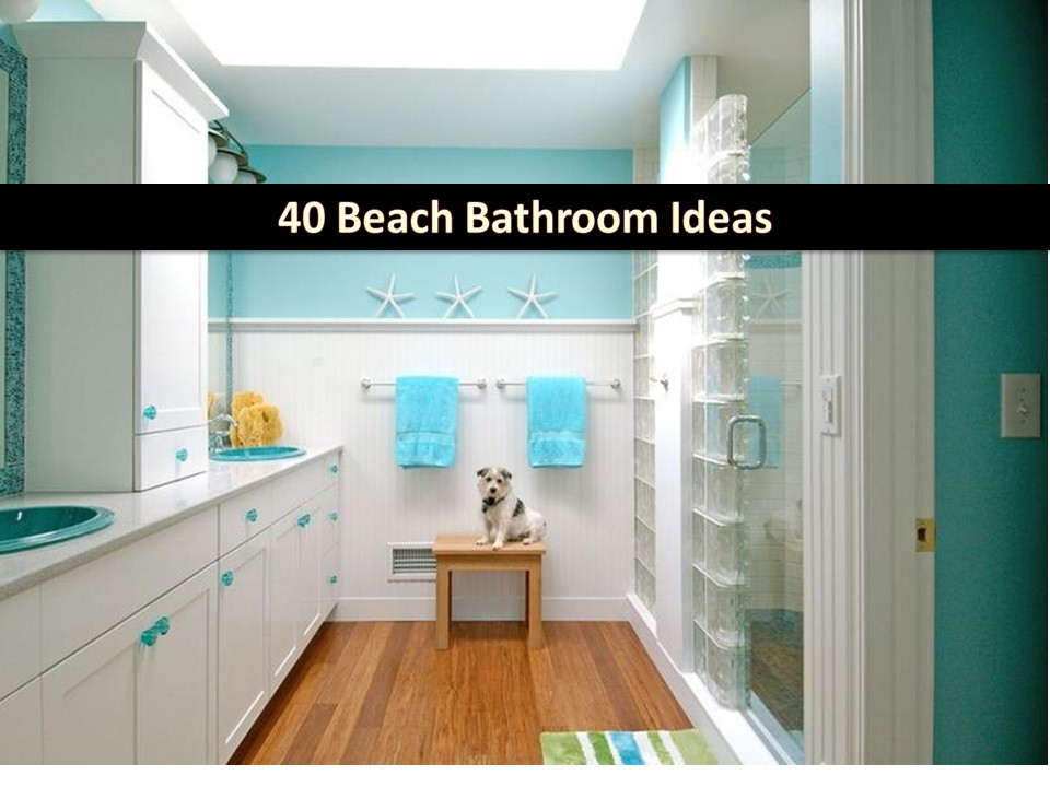 Just because it is a bathroom, you just can paint it white and leave it dull and boring. Aside from being clean, our bathroom should be pleasing too. If you are tired of common colors you can see in a bathroom, you can make some make-over and try some beach-style theme for a more refreshing and relaxing tone of your private room. Here are some wonderful photos you may recreate for your own.