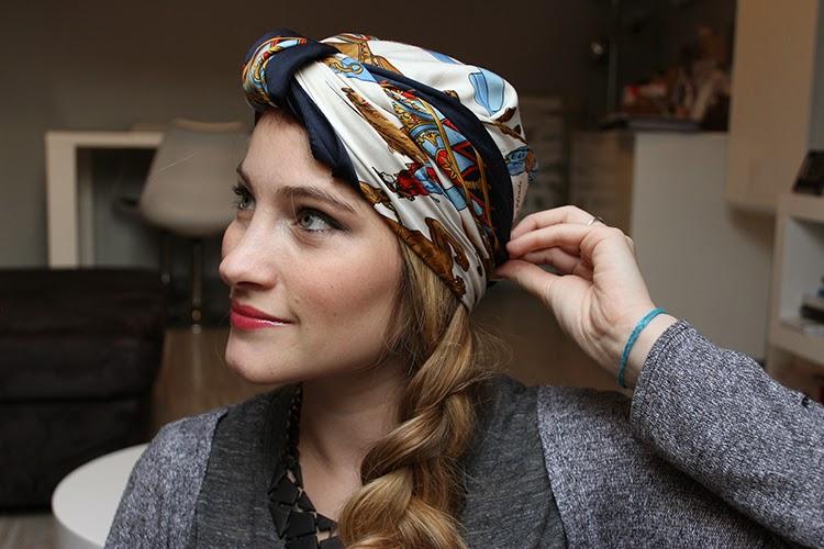 tiboudnez tutos vid o un foulard dans les cheveux 4 possibilit s tiboudnez blog do it. Black Bedroom Furniture Sets. Home Design Ideas