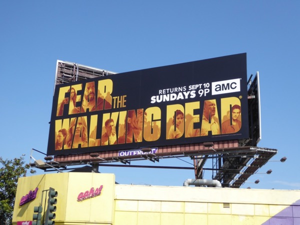 Fear the Walking Dead midseason 3 billboard
