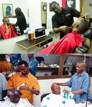 barbing shop in Nigeria