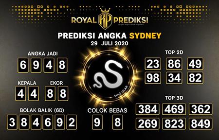 Royal Prediksi Sidney Rabu 29 Juli 2020