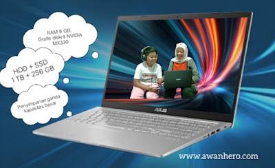 Asus VivoBook 15 A516, kapasitas besar