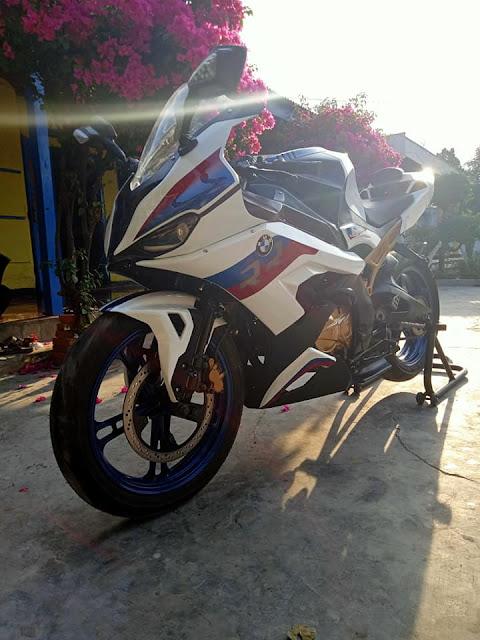 Modifikasi Minerva Tampil Ala-Ala BMW S 1000 RR