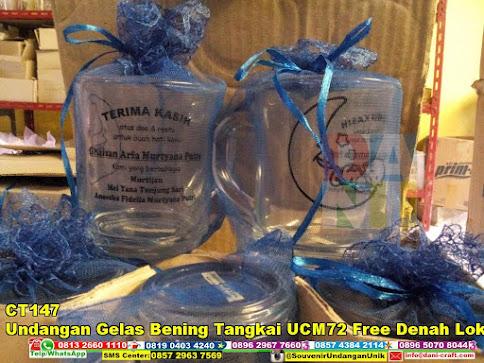 jual Undangan Gelas Bening Tangkai UCM72 Free Denah Lokasi