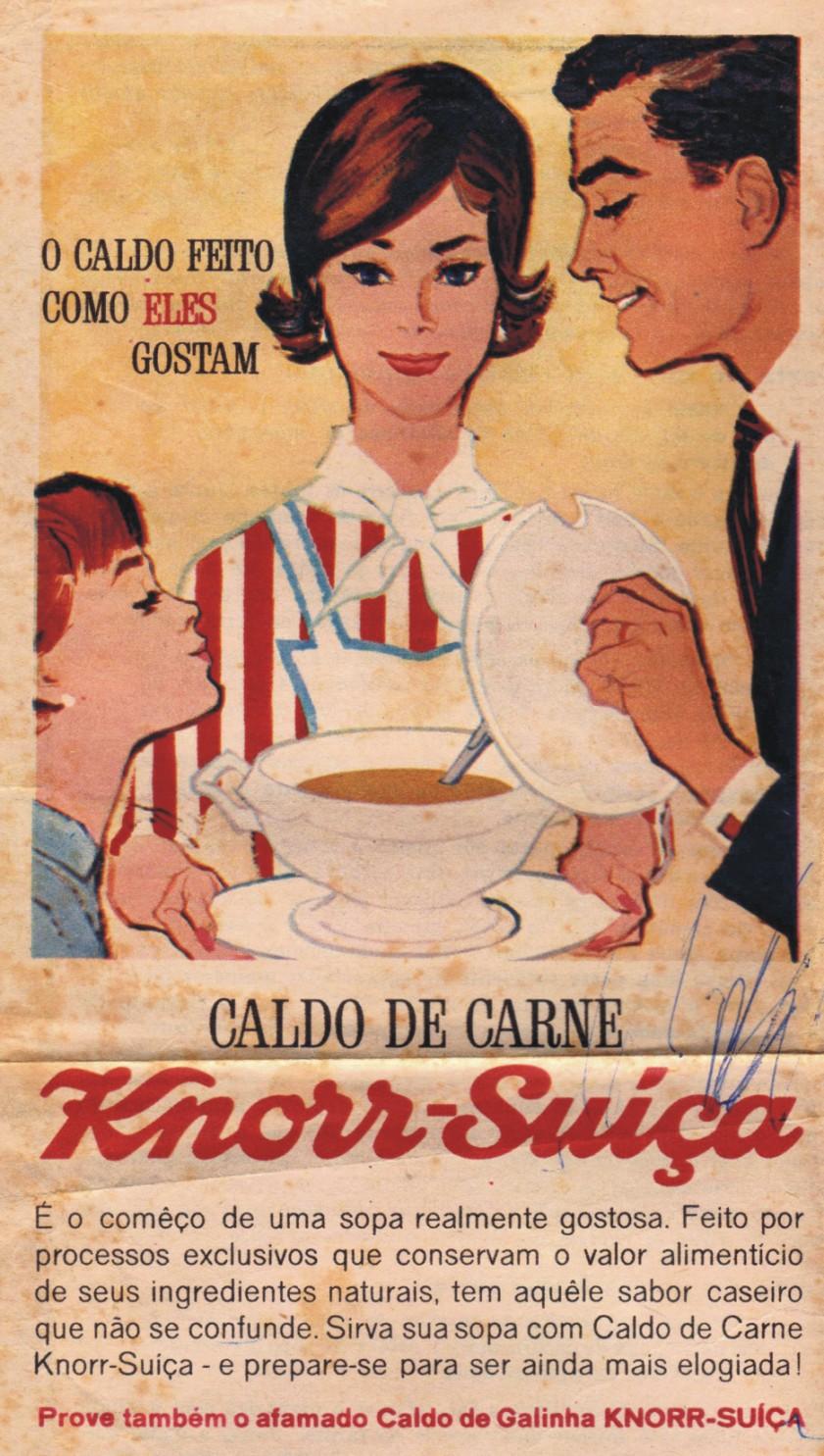 Propaganda antiga do famoso Caldo de Carne Knorr no começo dos anos 60