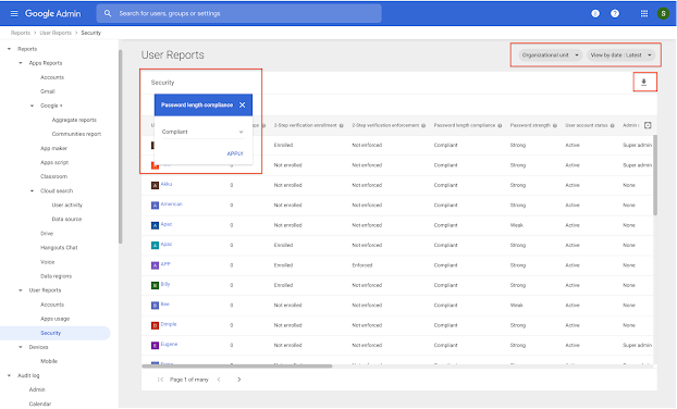 Updates to G Suite Admin Console Security Settings Section 🔔 2
