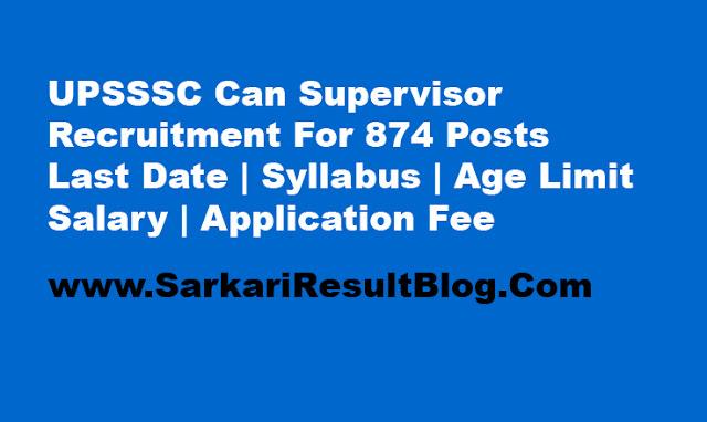 Can Supervisor Recruitment