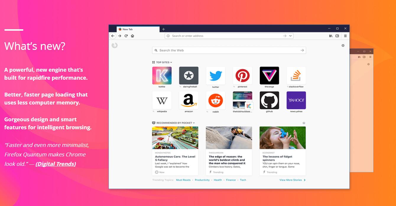 موزيلا تكشف رسميا عن متصفحها الجديد Firefox Quantum...قم بتحميله الان