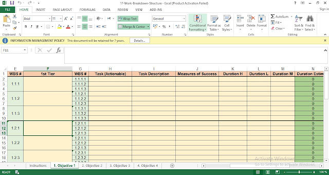 Download Free Work Breakdown Structure Template in Excel