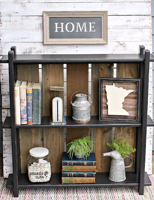 Curbside Bookshelf Upcycled with Paint & Fence Boards