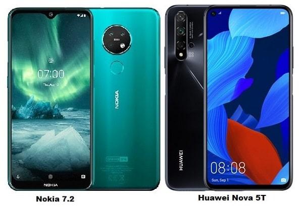 Nokia 7.2 Vs Huawei Nova 5T Specs Comparison