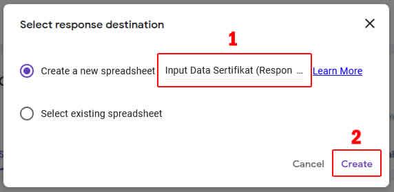 memberikan nama file spreadsheet