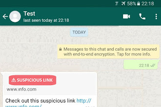 WhatsApp Testing Suspicious Link Detection Features