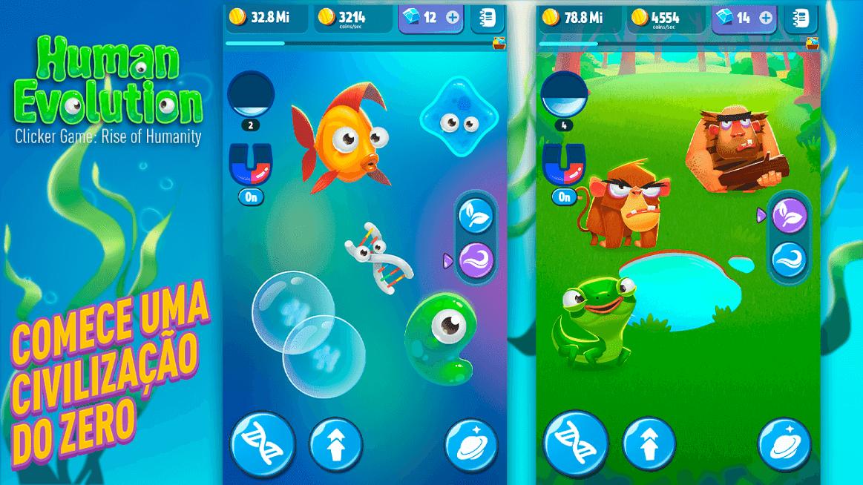 Human Evolution Clicker Game MOD Dinheiro Infinito 2021 v 1.9.5 b302
