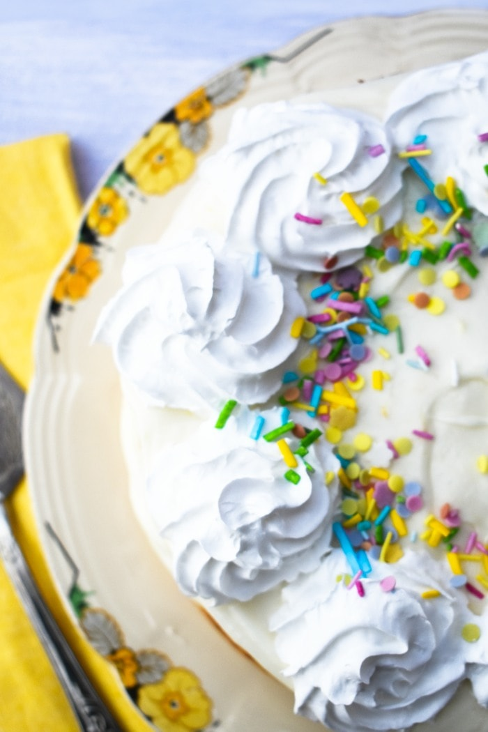 Quick Vegan Lemonade Cake from above