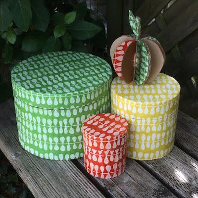 boîtes gigognes rondes en carton