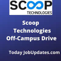 Scoop Technologies off-campus Recruitment Drive