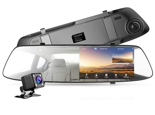 EYETOO Waterproof Backup 1080P Mirror Dash Cam for Cars