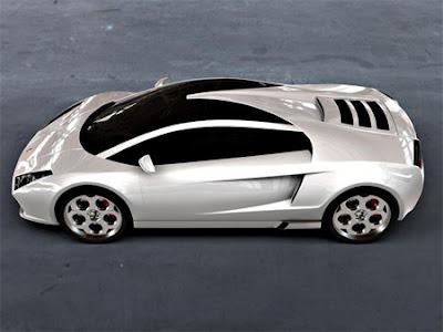 Auto prototipo Lamborghini.