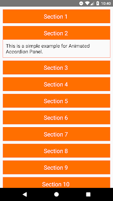 React Native Create Animated Accordion Panels using Layout Animation
