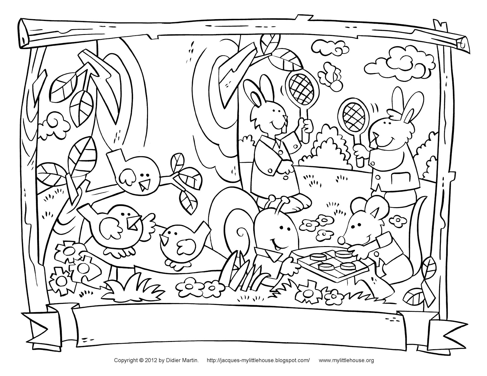 My Little House School Days Coloring Pages