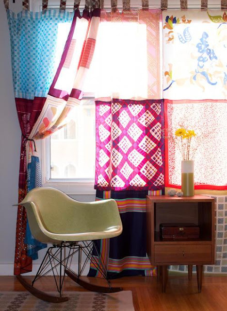 DIY Scarf Curtains