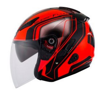 Harga Helm KYT Superfluo Red