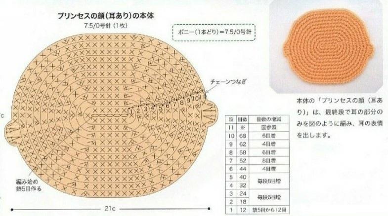 Схемы вязания детского коврика с аппликацией (5)