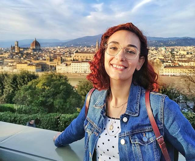 Taking photos in Florence, Italy