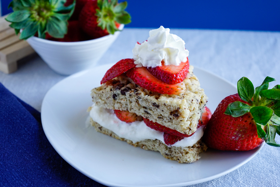Strawberry and chocolate shortcake