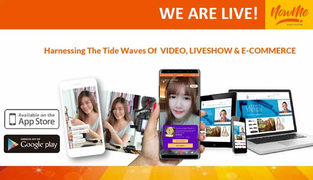 nowme 1st live commerce  resmi meluncur di indonesia